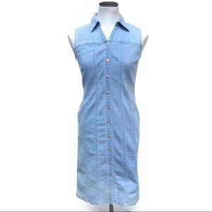 Vintage Ann Taylor Loft denim button down dress